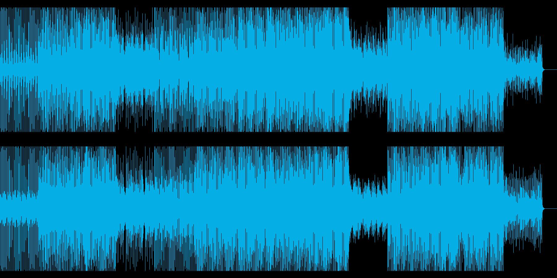 ハウス/ディスコ風ダンストラックの再生済みの波形