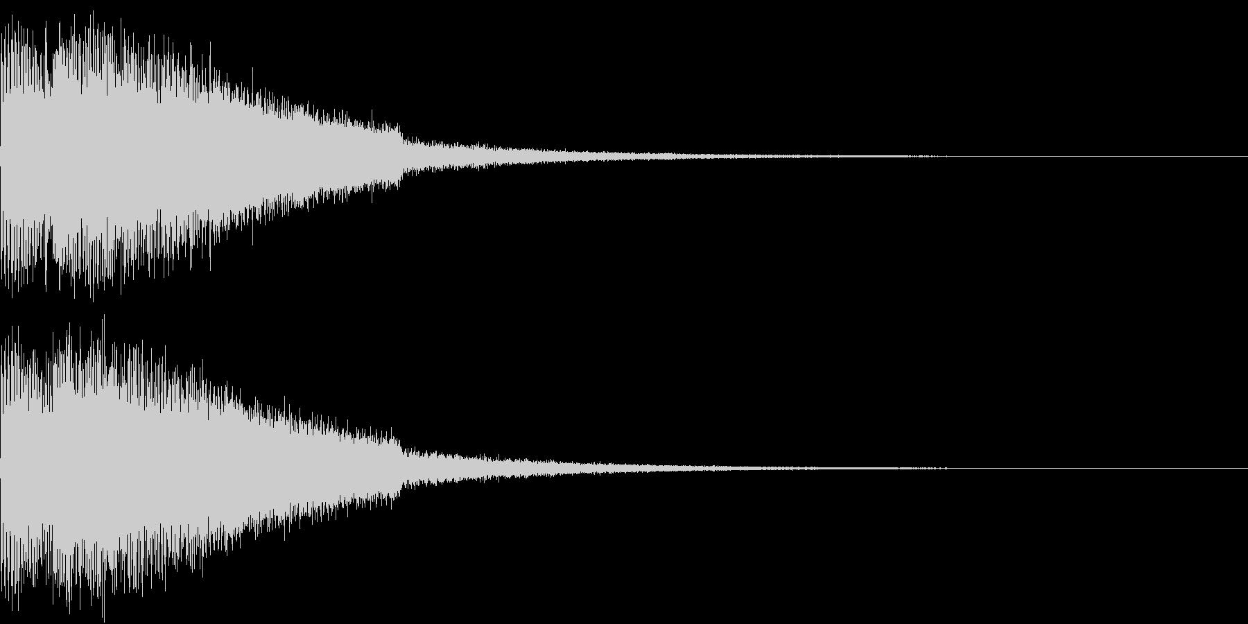 ピキューン ジャンプ ポヨーン Cの未再生の波形