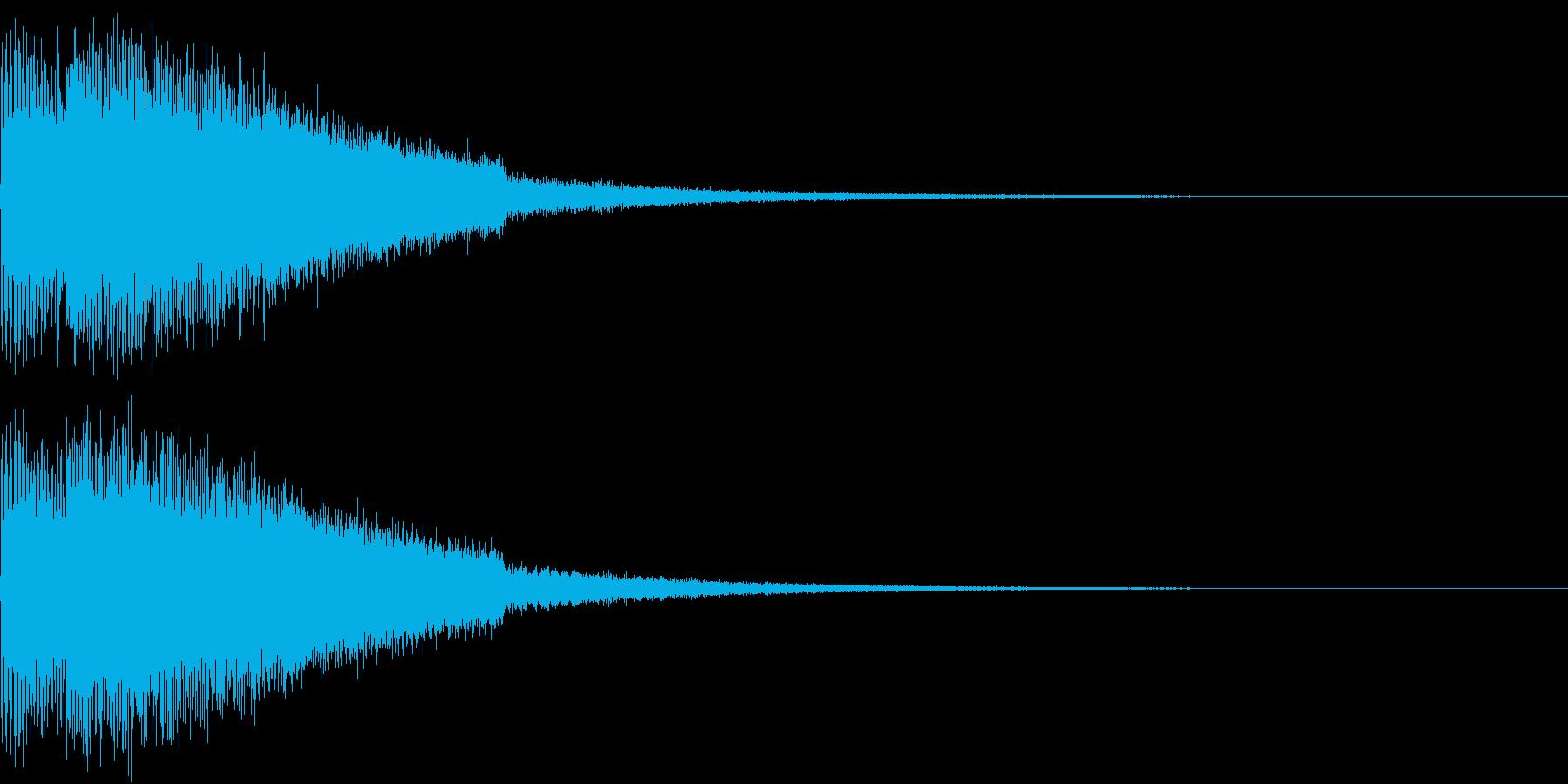 ピキューン ジャンプ ポヨーン Cの再生済みの波形