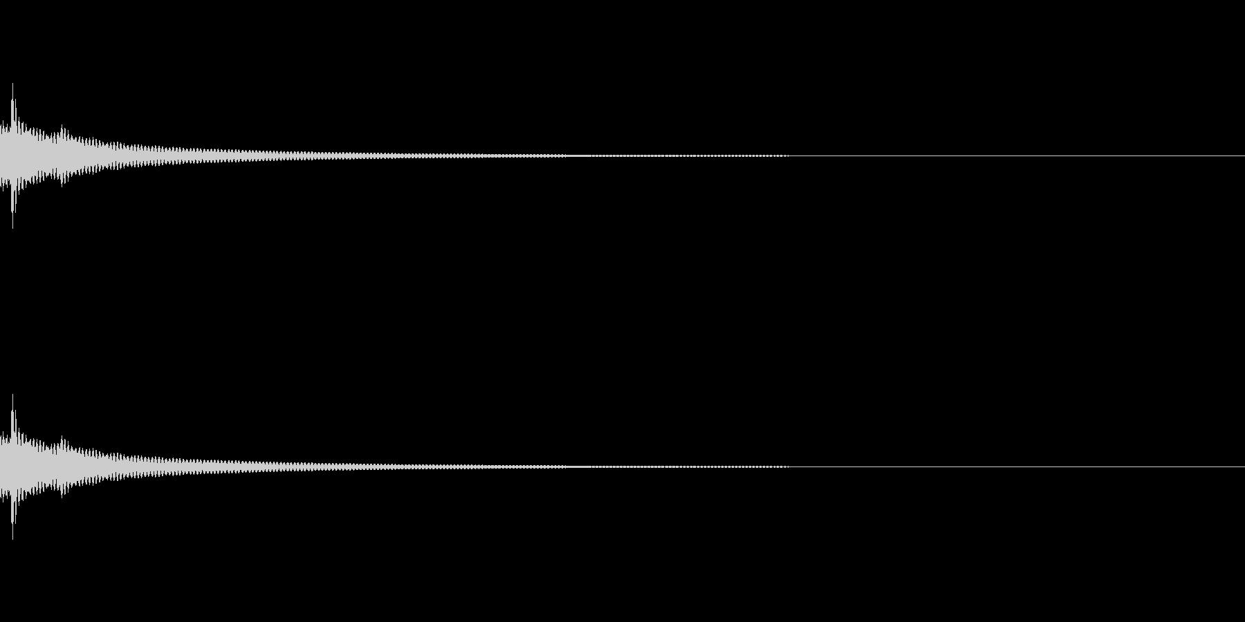 チベッタンベル。の未再生の波形