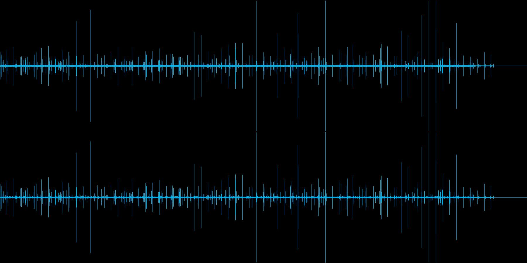 ぶちぶち(ノイズの音)の再生済みの波形