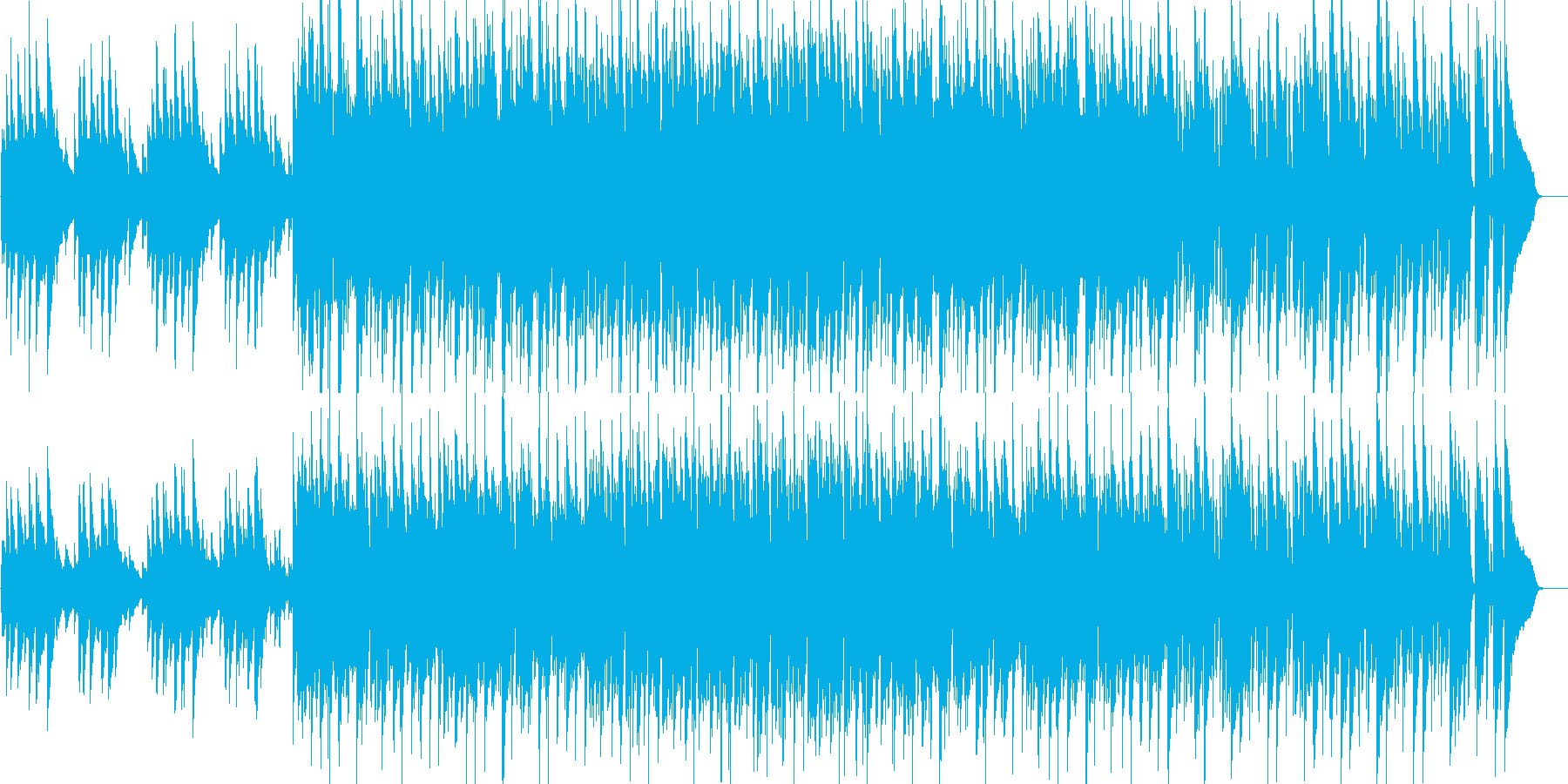 軽快・クール・爽やか・わくわく・ピアノの再生済みの波形