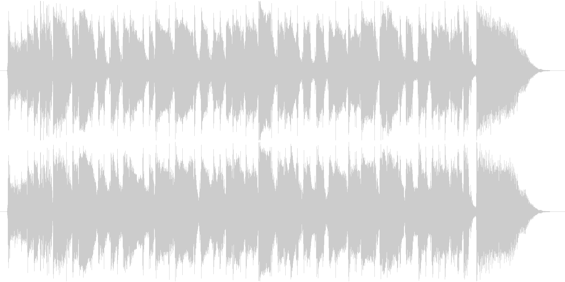 GS・昭和ロックなギターリフの未再生の波形