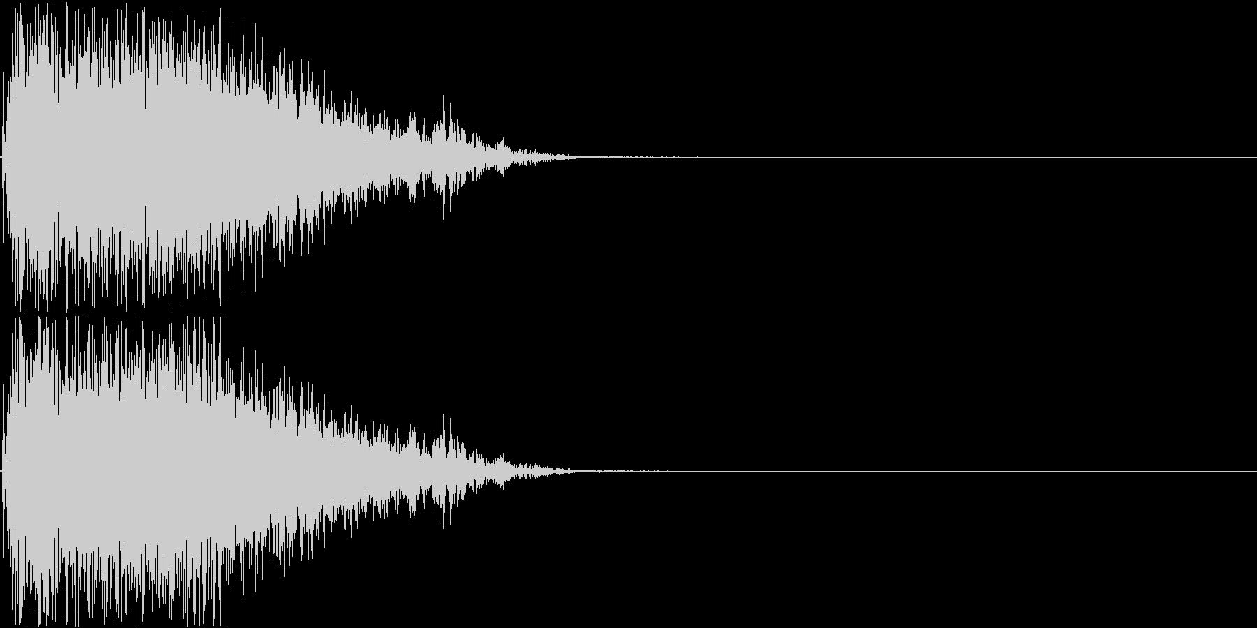 パンチ音01(プシュー)の未再生の波形