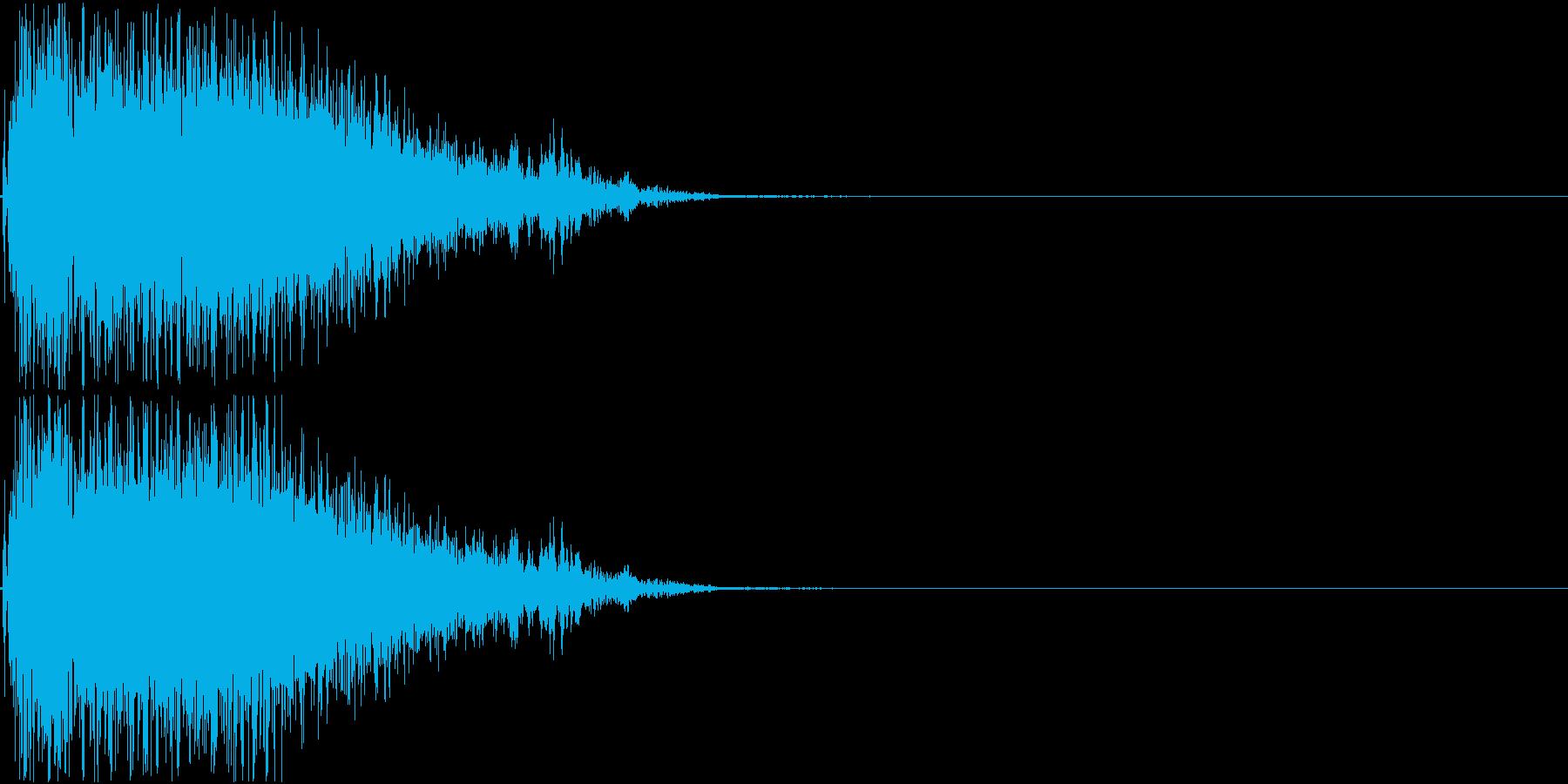 パンチ音01(プシュー)の再生済みの波形