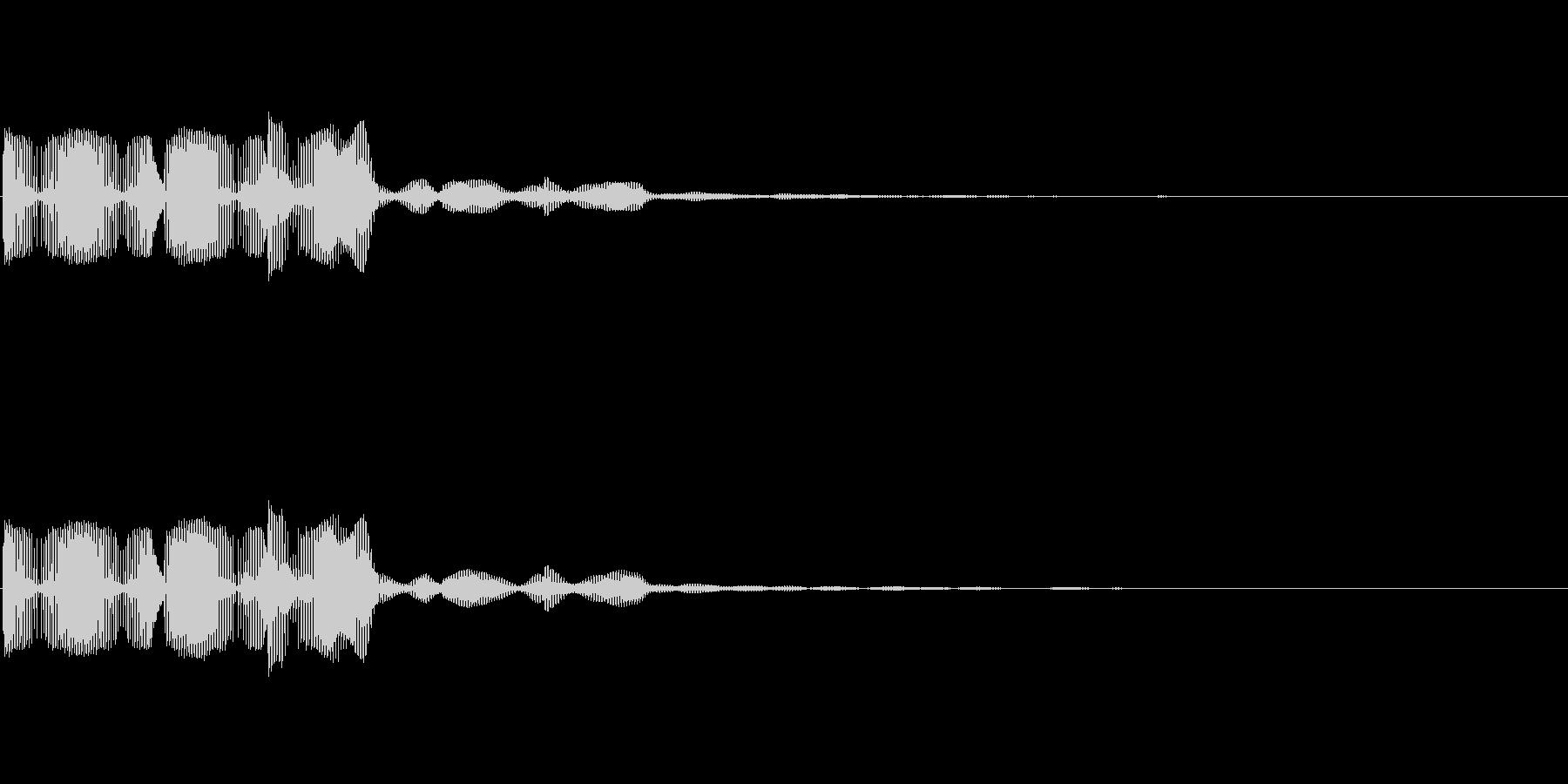 ブブー(ゲーム・アプリのエラー音)の未再生の波形