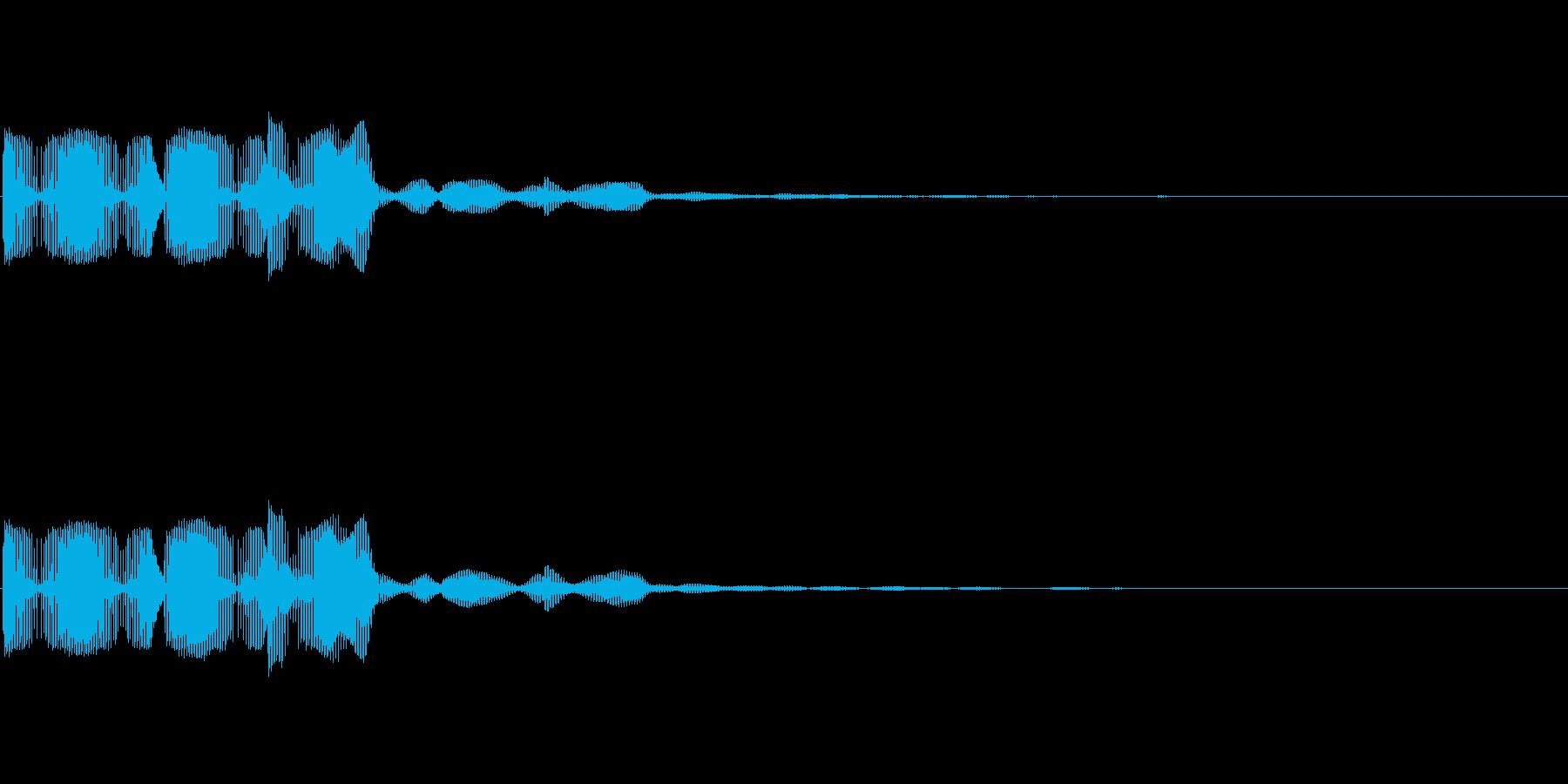 ブブー(ゲーム・アプリのエラー音)の再生済みの波形