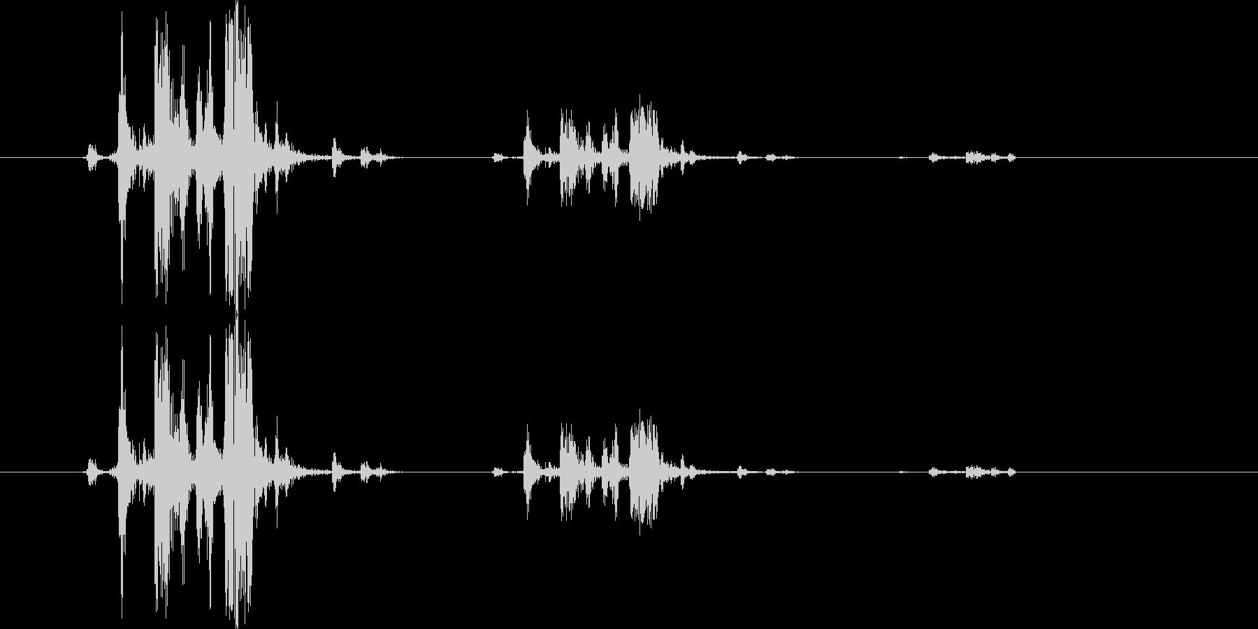 カメラのシャッター音5(カッシャッ)の未再生の波形