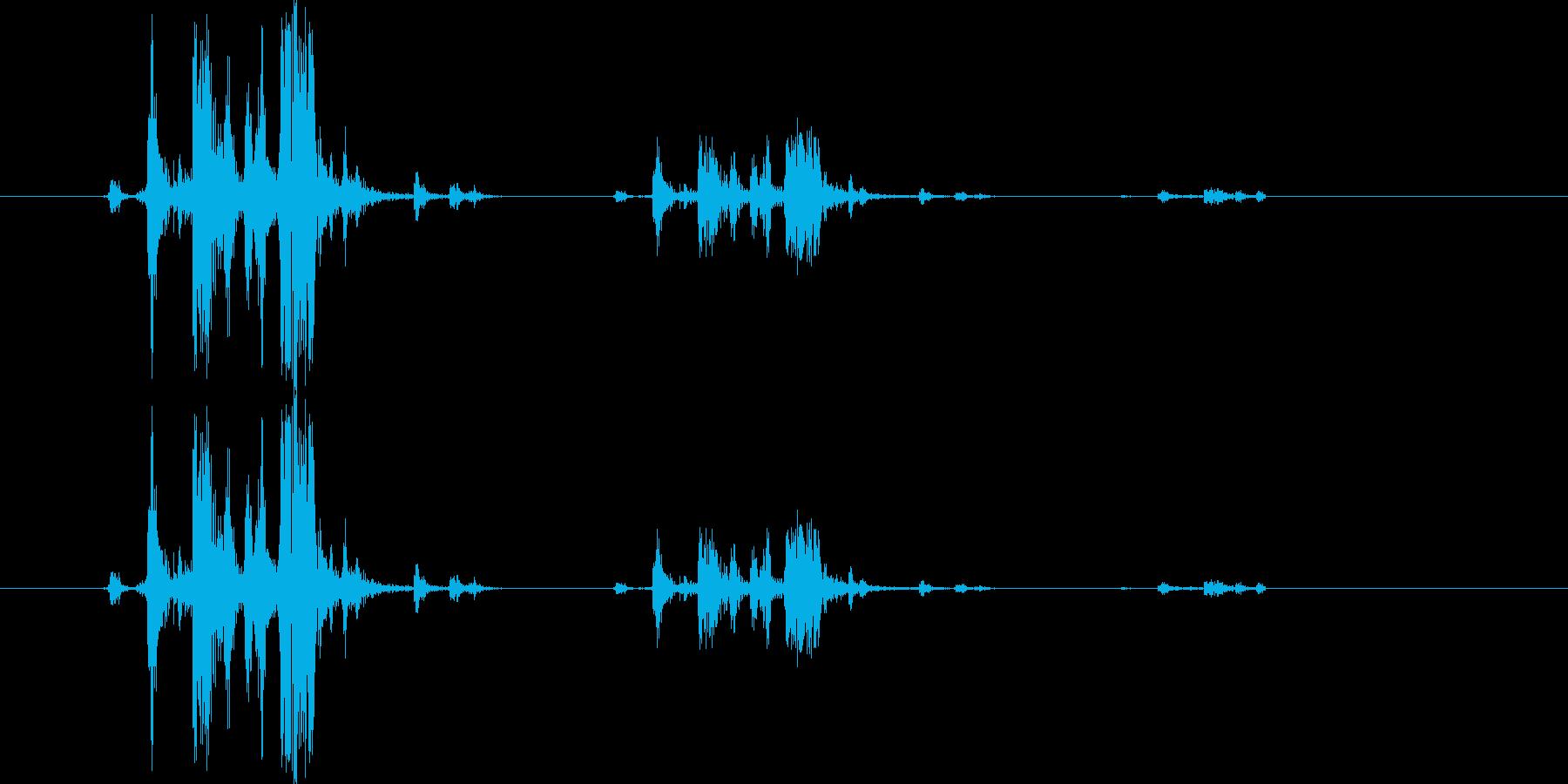 カメラのシャッター音5(カッシャッ)の再生済みの波形