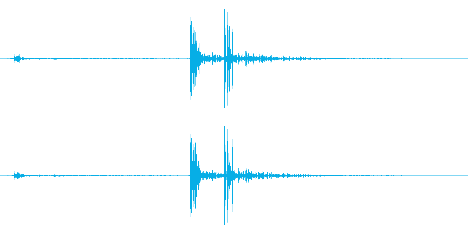 打ち上げ花火(ドドン!)の再生済みの波形