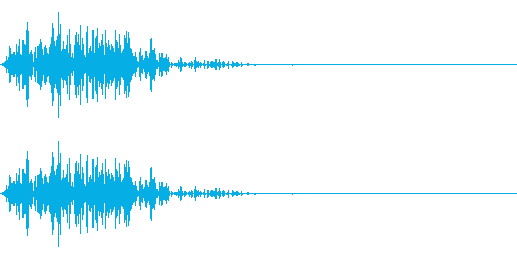ガブッ(かじる/噛む/食べる)の再生済みの波形