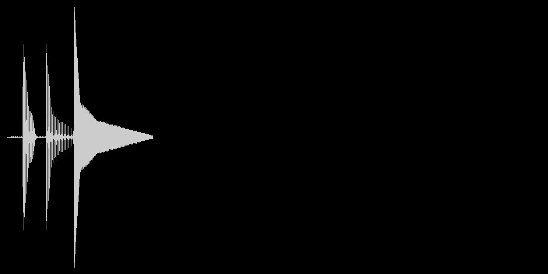 電子音のクリック音。「テテッ」の未再生の波形