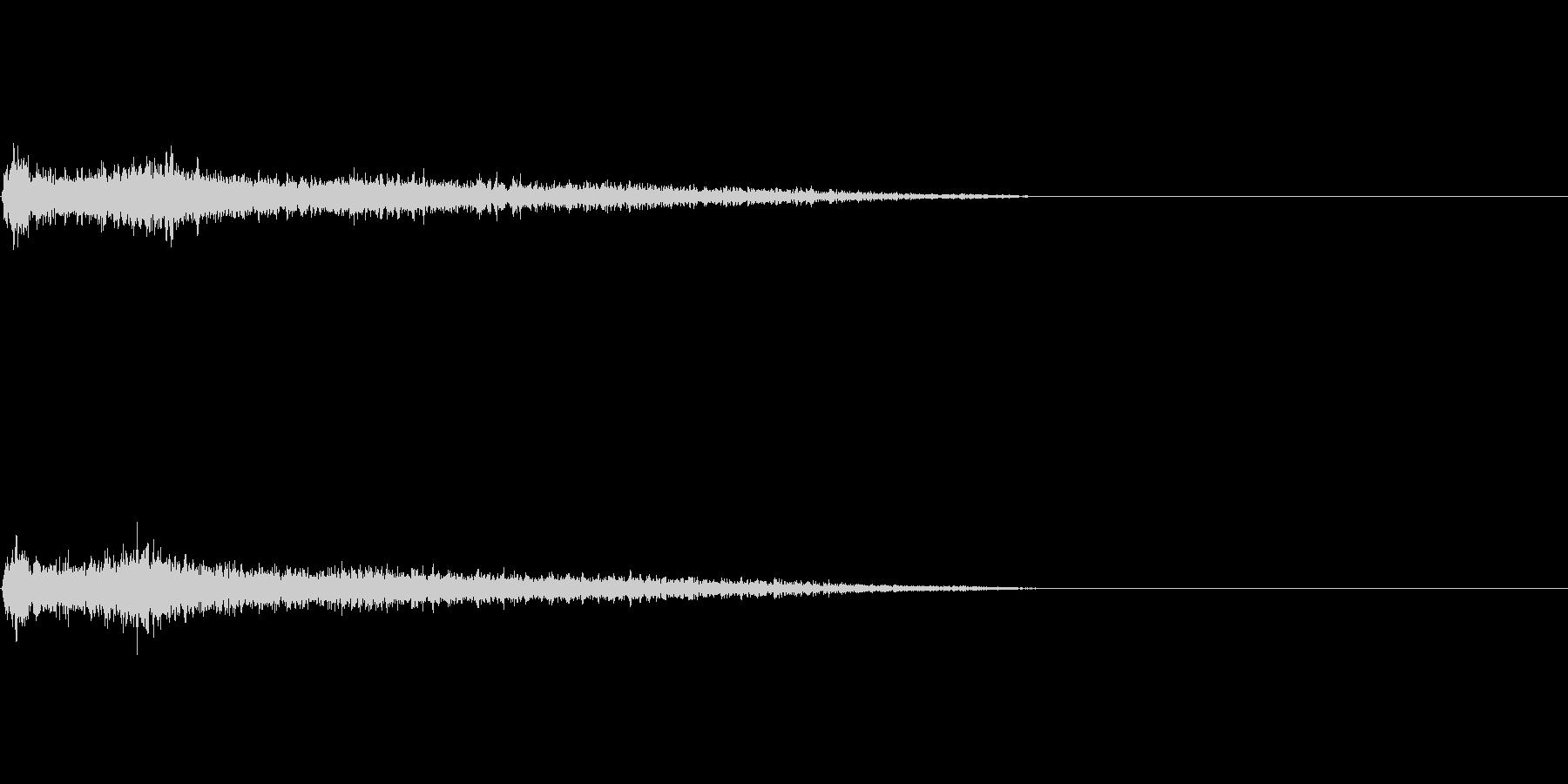 Cマイナー インパクト音 衝撃音の未再生の波形