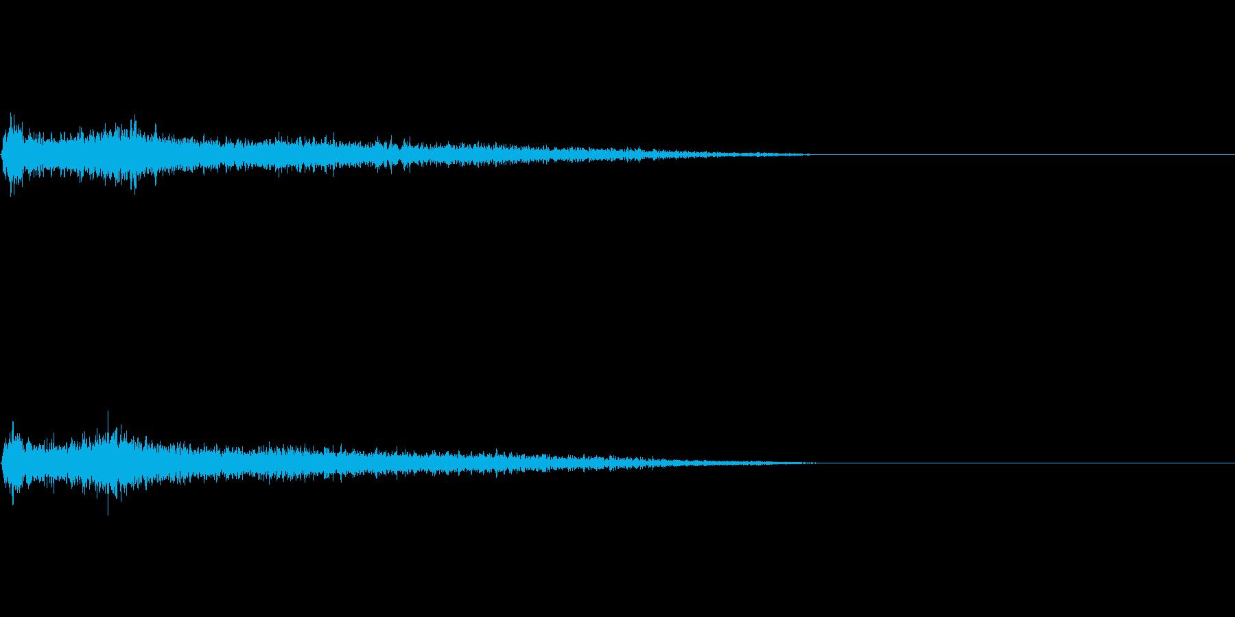 Cマイナー インパクト音 衝撃音の再生済みの波形