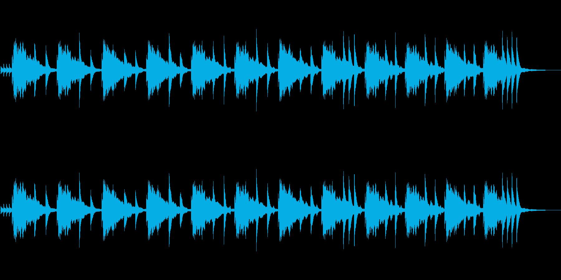 クイズの考え中(シンキングタイム)の曲の再生済みの波形