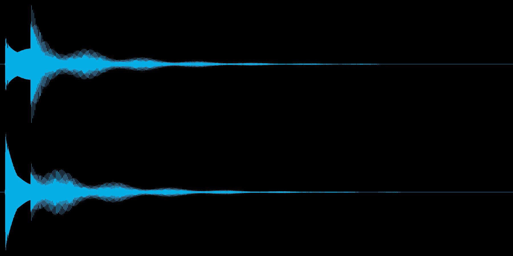 クイズ正解音。ぴんぽーんの再生済みの波形