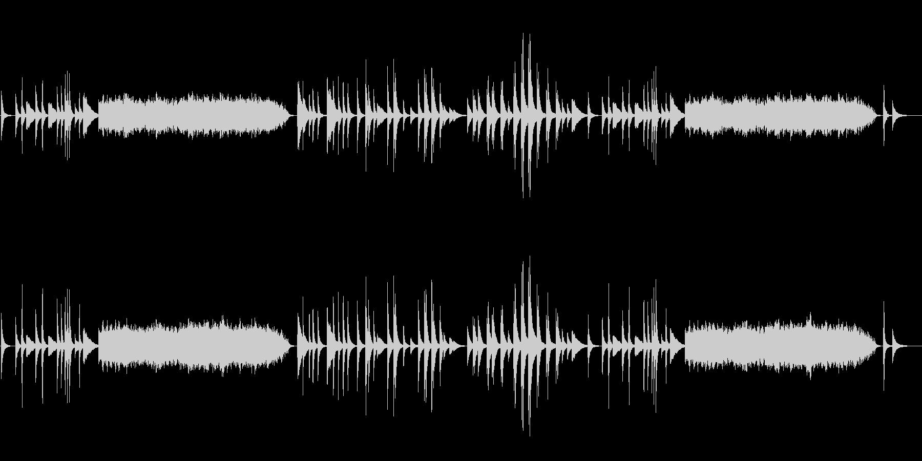 静寂の中のピアニズム(淡々とした調べ)の未再生の波形