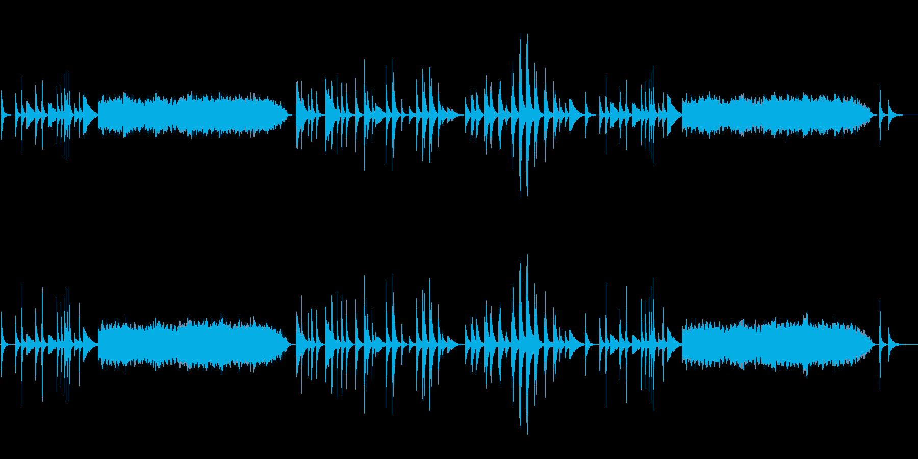 静寂の中のピアニズム(淡々とした調べ)の再生済みの波形