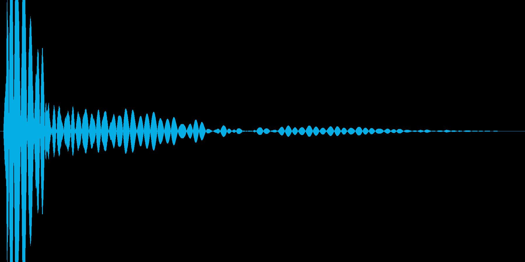 ボタン・カーソル・操作音 「コッ」の再生済みの波形