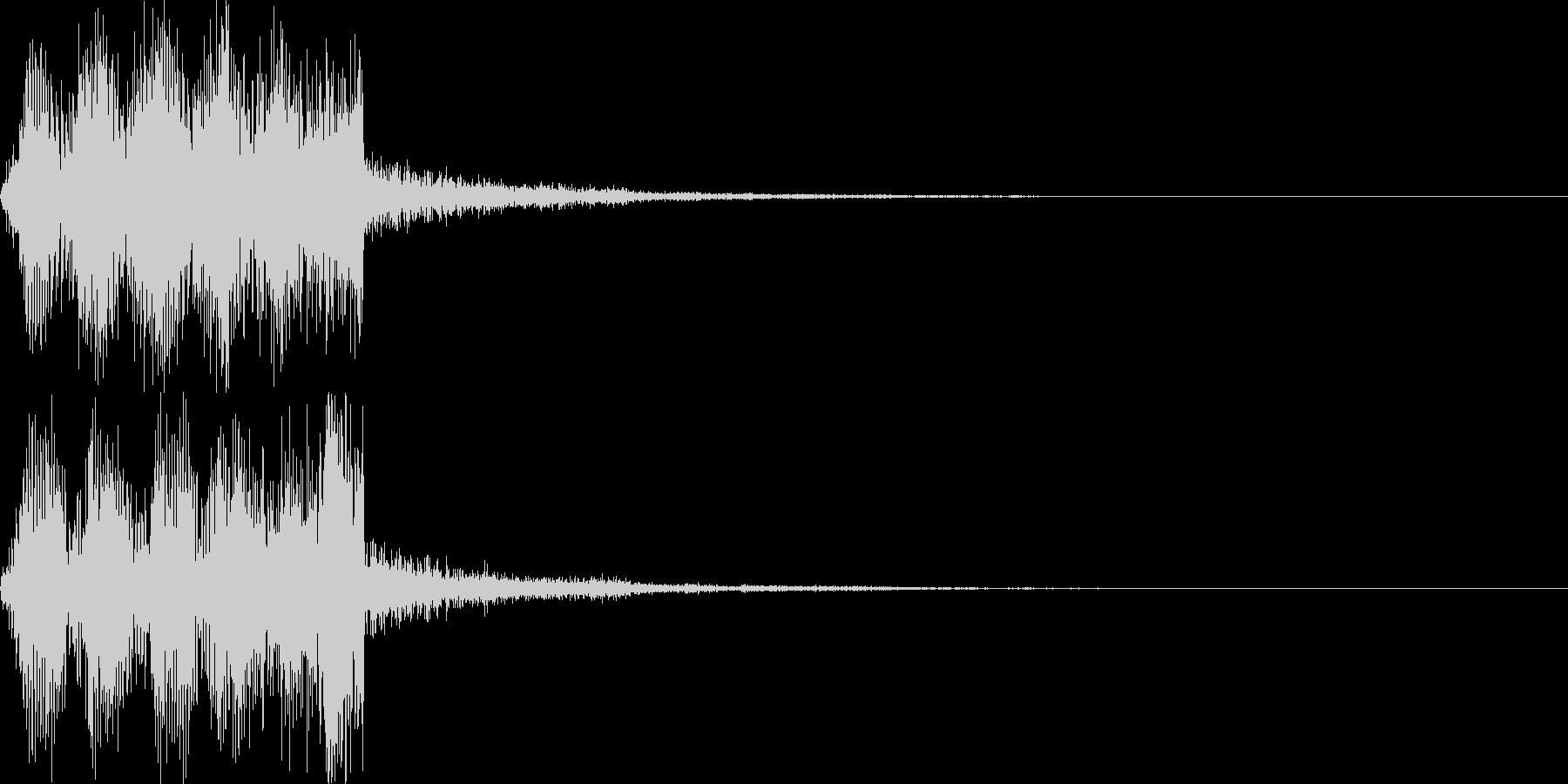 アイテム獲得・ポーズ・セレクトSEの未再生の波形