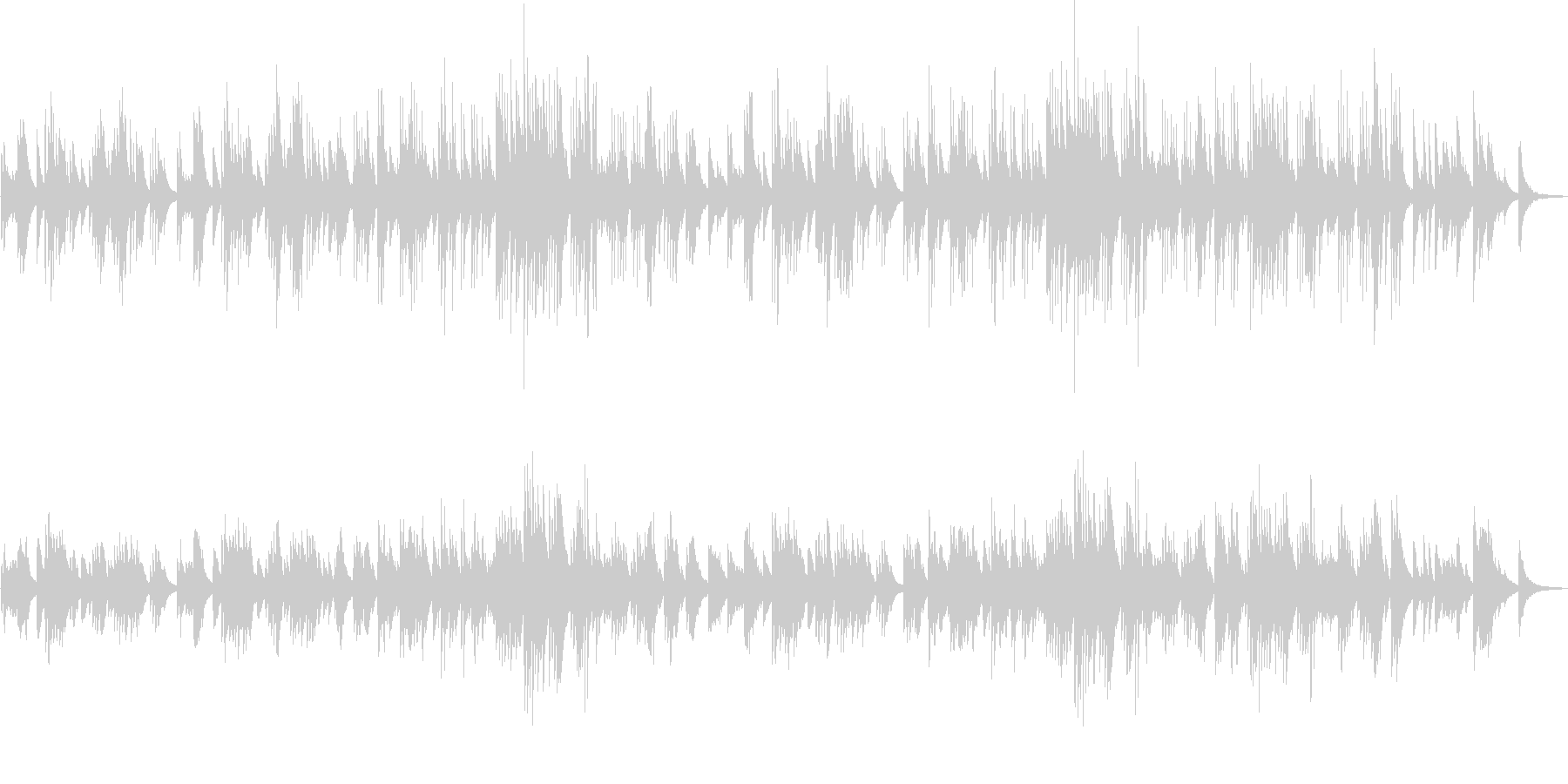 切ない旋律が印象的なピアノソロバラードの未再生の波形