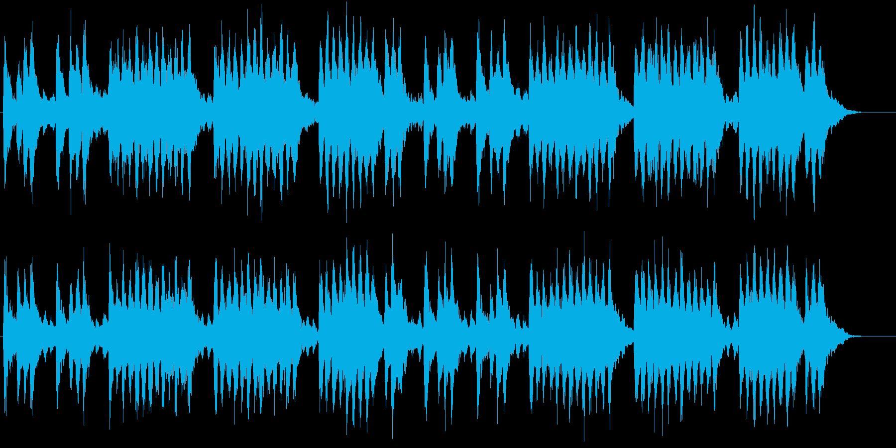 童謡「春よ来い」のオーケーストラ風カバーの再生済みの波形