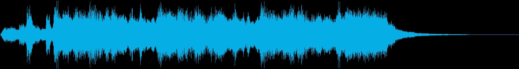 華麗なオーケストラ・ファンファーレの再生済みの波形
