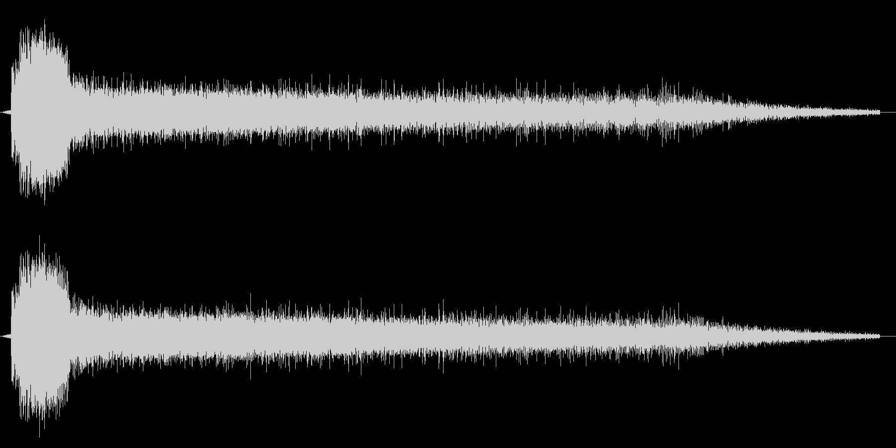 レーザービーム1連の未再生の波形