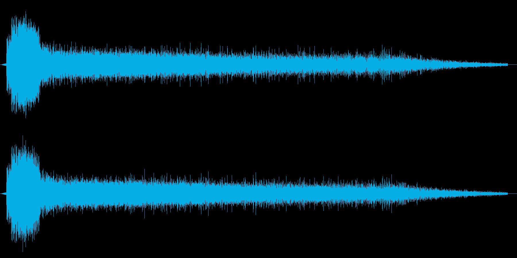 レーザービーム1連の再生済みの波形
