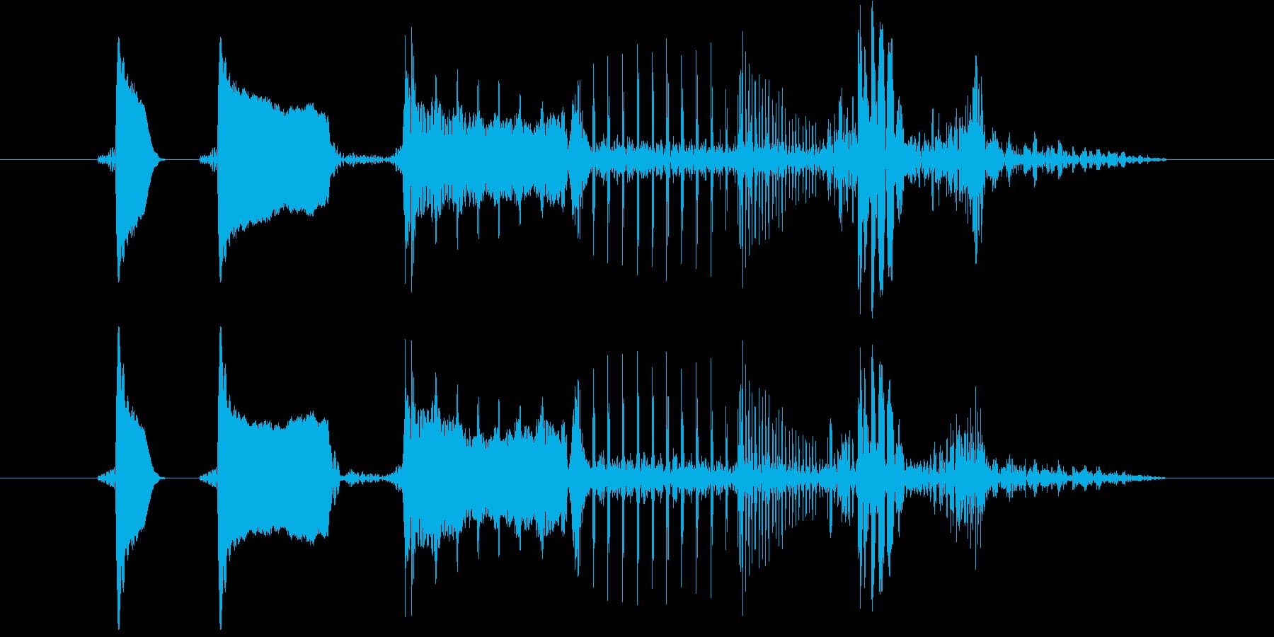 ピロリ!決定/ボタン/クリック効果音25の再生済みの波形