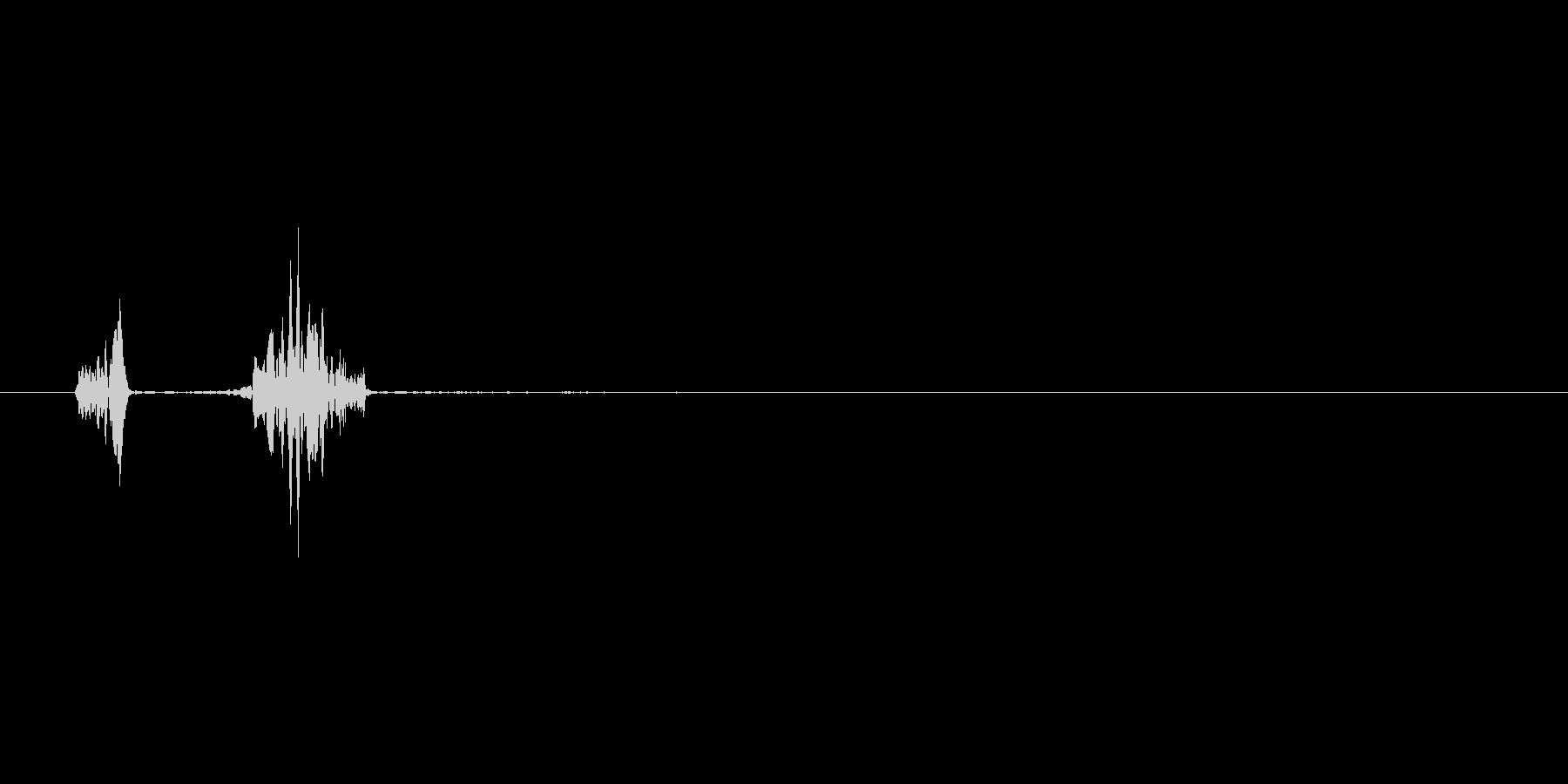 プニッ(肉球感あふれる可愛いタッチ音)の未再生の波形