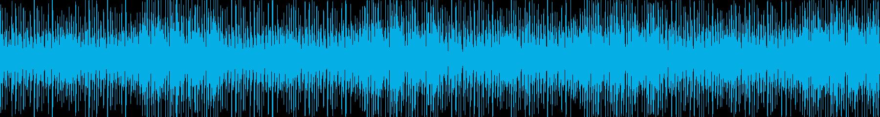 大人でジャジー軽快リズムBGM_LOOPの再生済みの波形