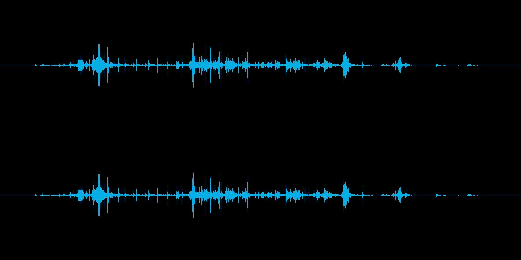【雑誌01-4(パラパラ)】の再生済みの波形