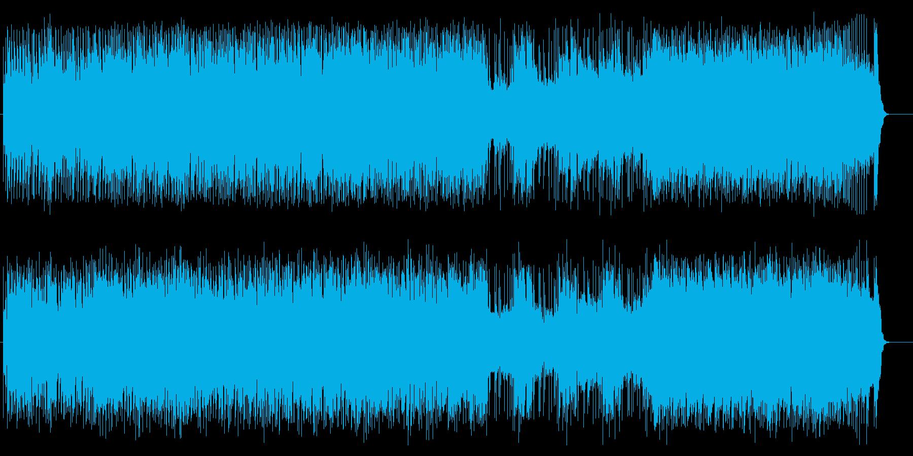 タイトでキャッチーなロックンロールの再生済みの波形