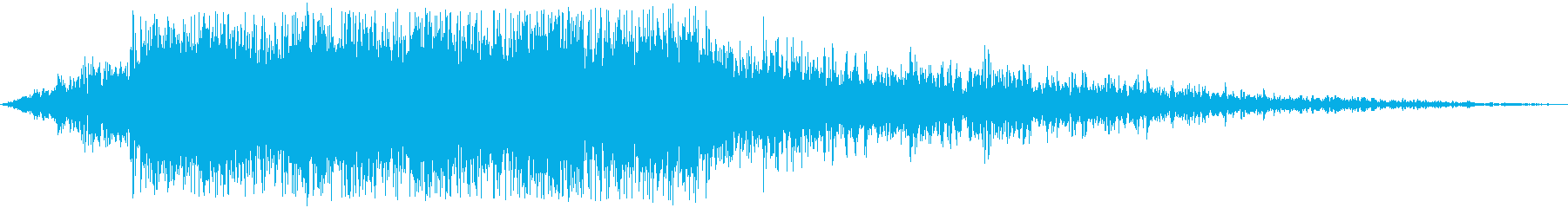 旅客機近距離通過(癖のない音)の再生済みの波形
