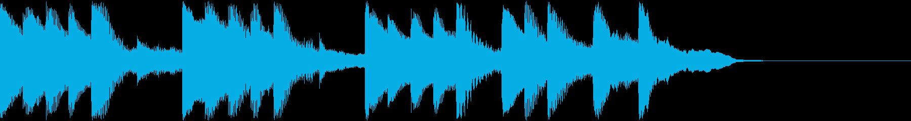 ゆるゆると眠くなるジングルの再生済みの波形