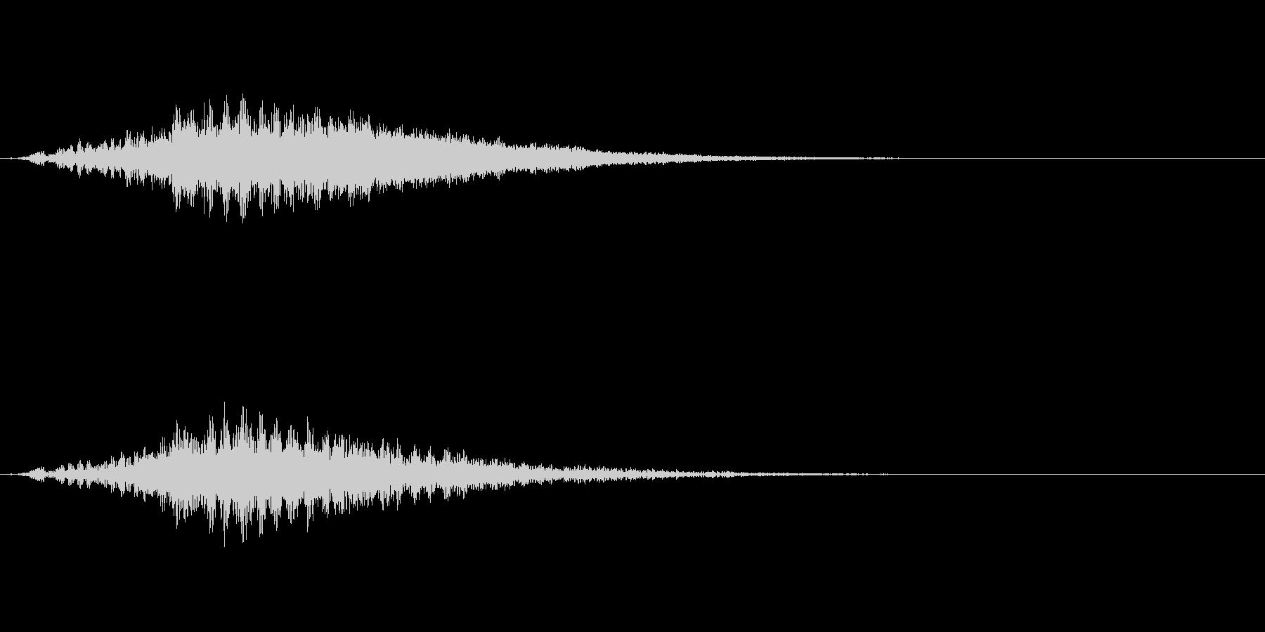 「キーン」予感音の未再生の波形