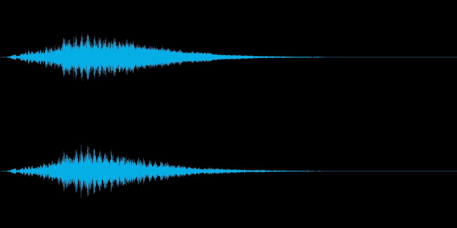 「キーン」予感音の再生済みの波形