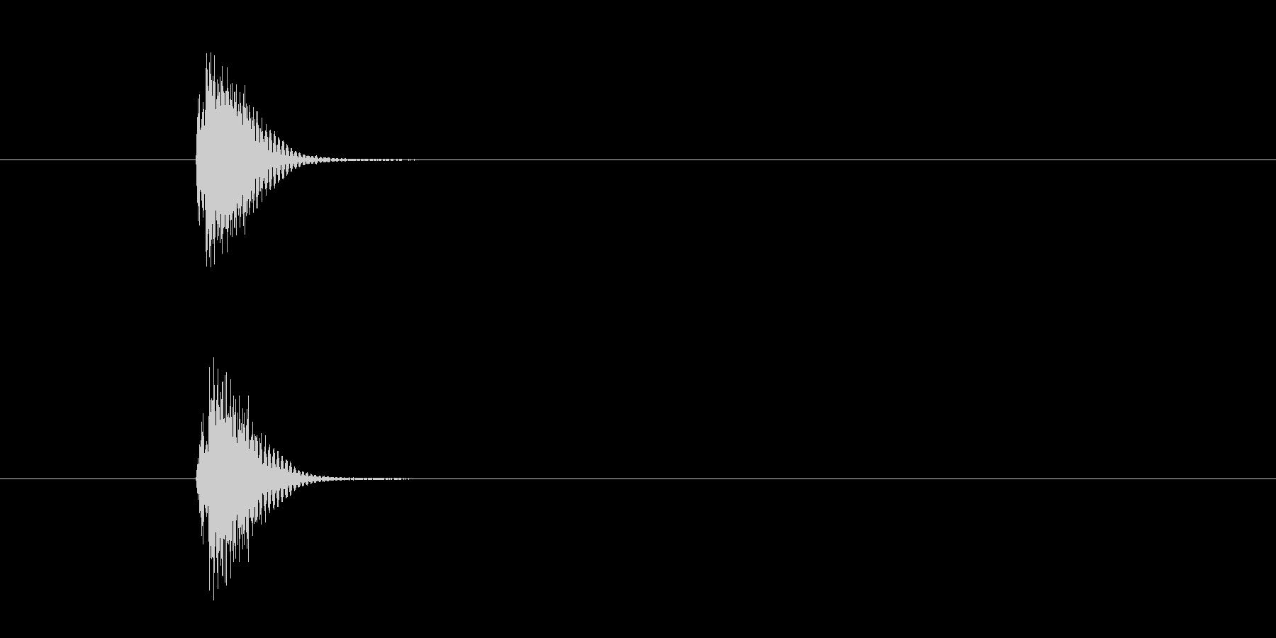 ボタンあるいはタップの決定音SE2の未再生の波形