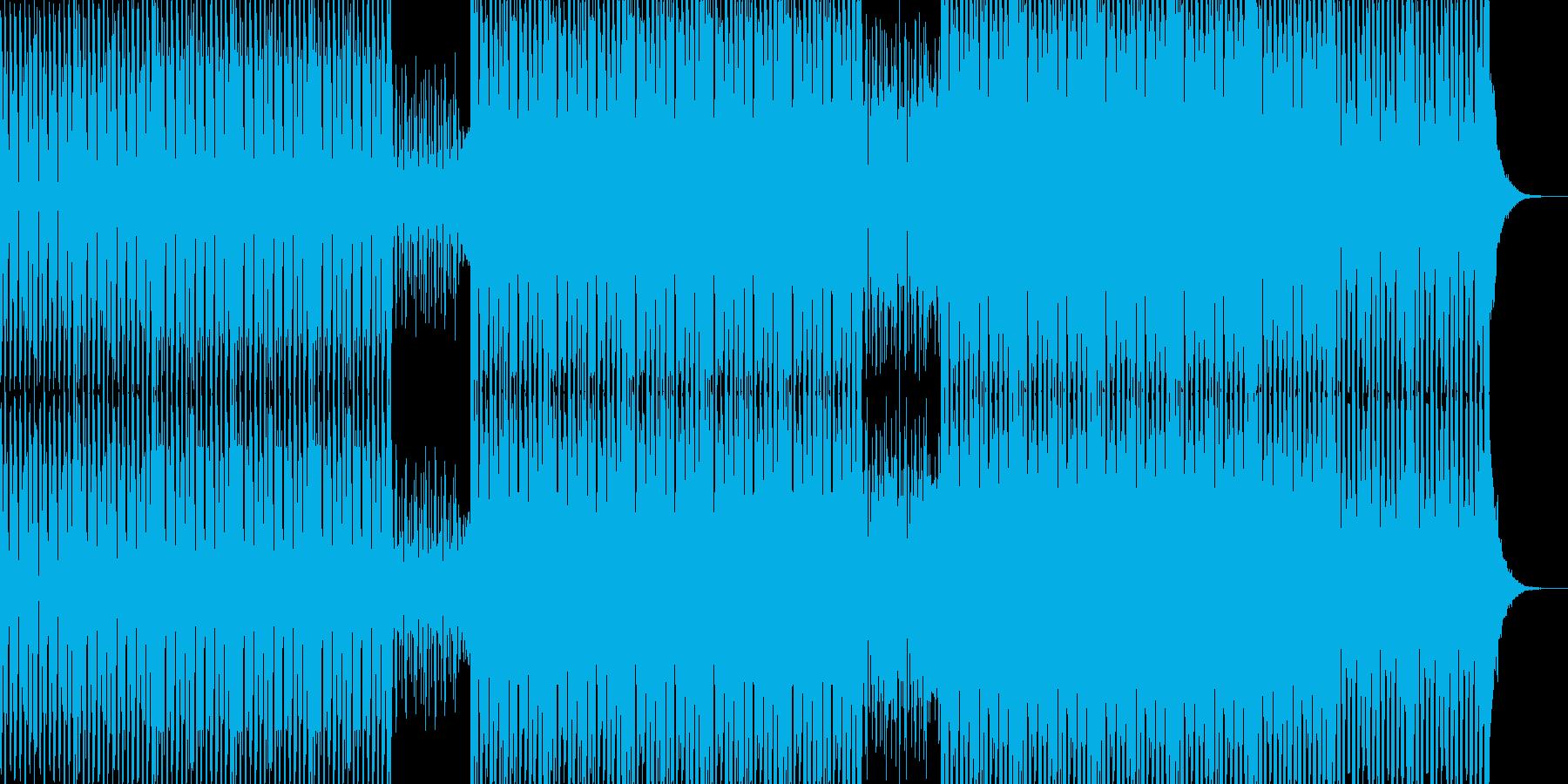 明るいダンス用BGM2の再生済みの波形