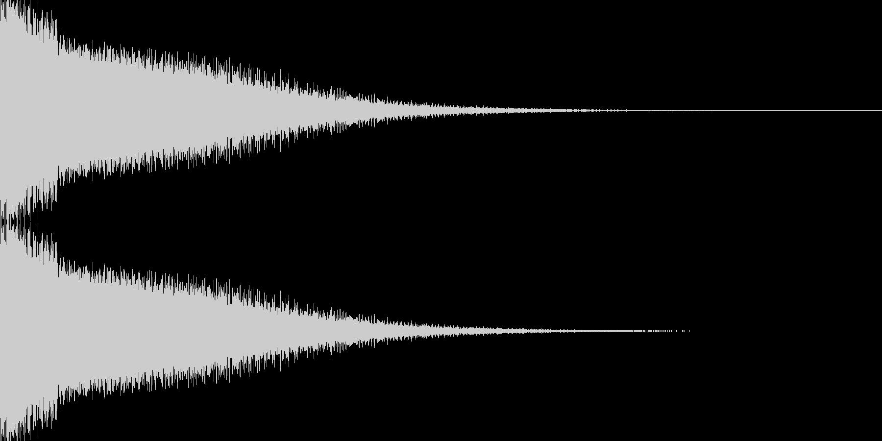 ビームライフル発射音 タイプ7の未再生の波形