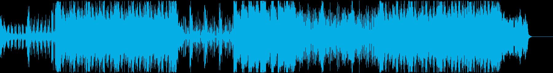 シンセに二胡をMIXしたロック調サウンドの再生済みの波形