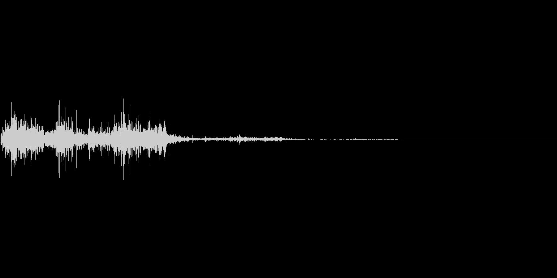ペラッ(ページめくり)の未再生の波形