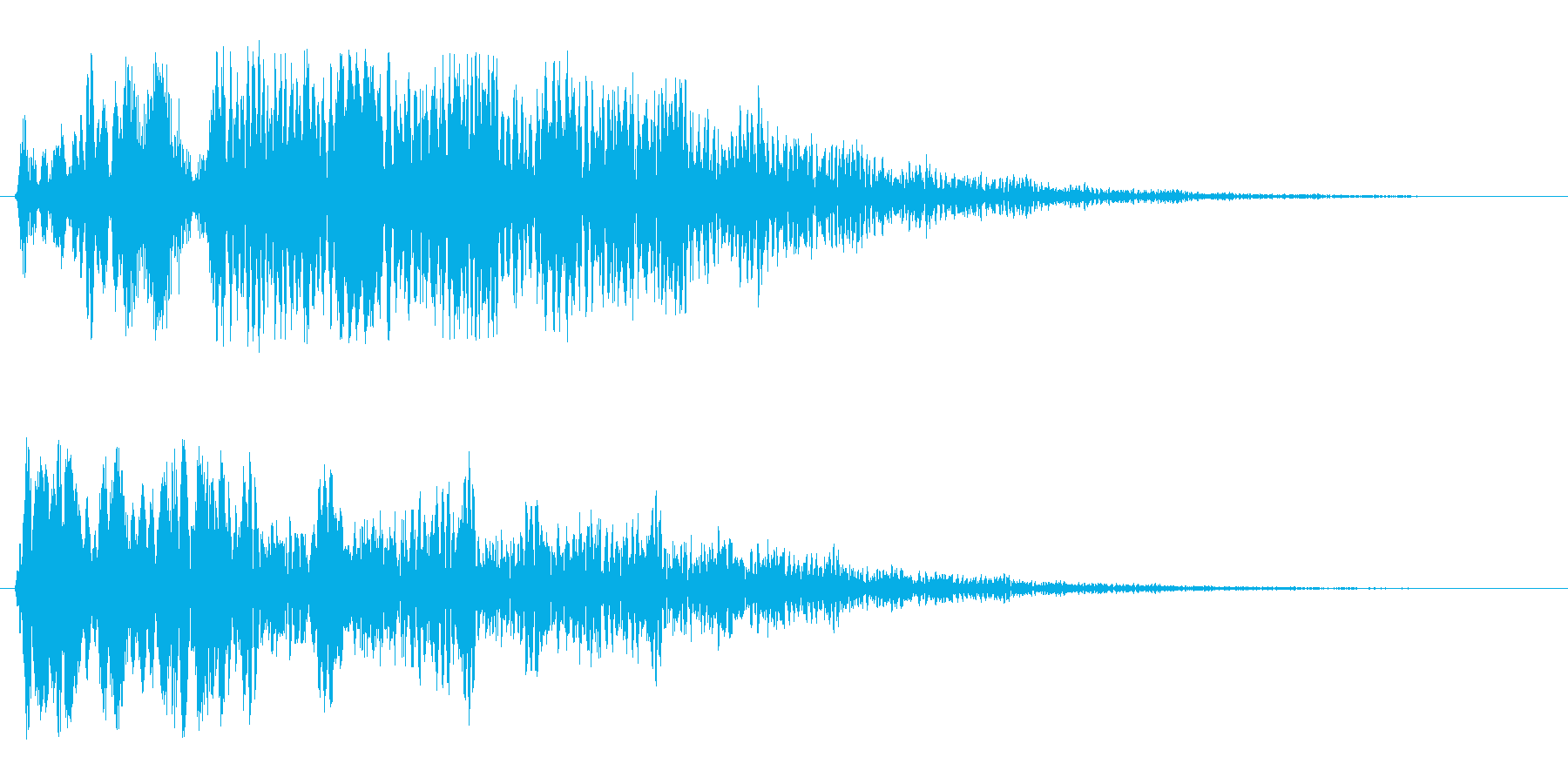 ビョビョ〜ン(高い音)の再生済みの波形