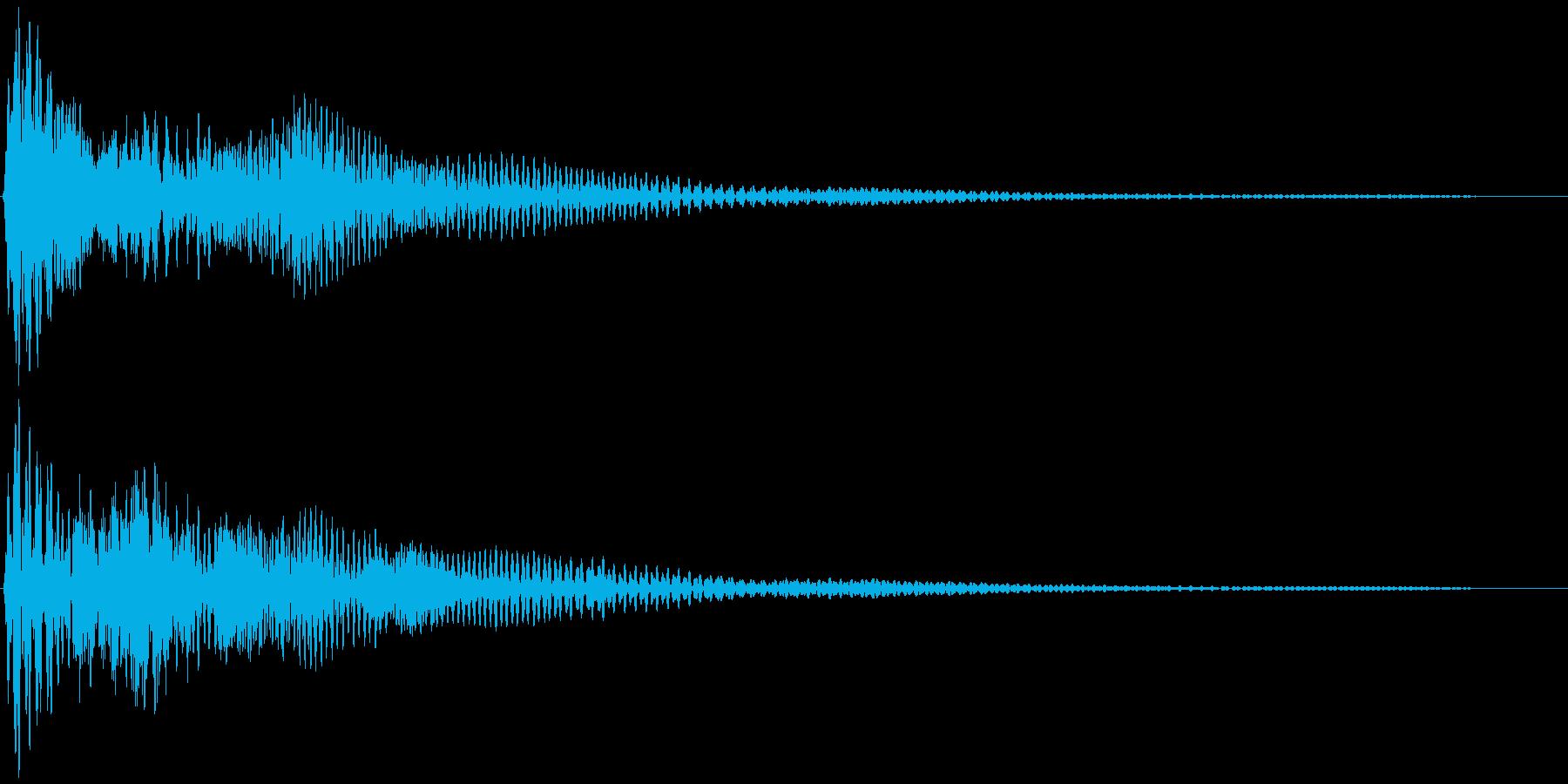 選択音、決定音など 宇宙風D ブオーンの再生済みの波形