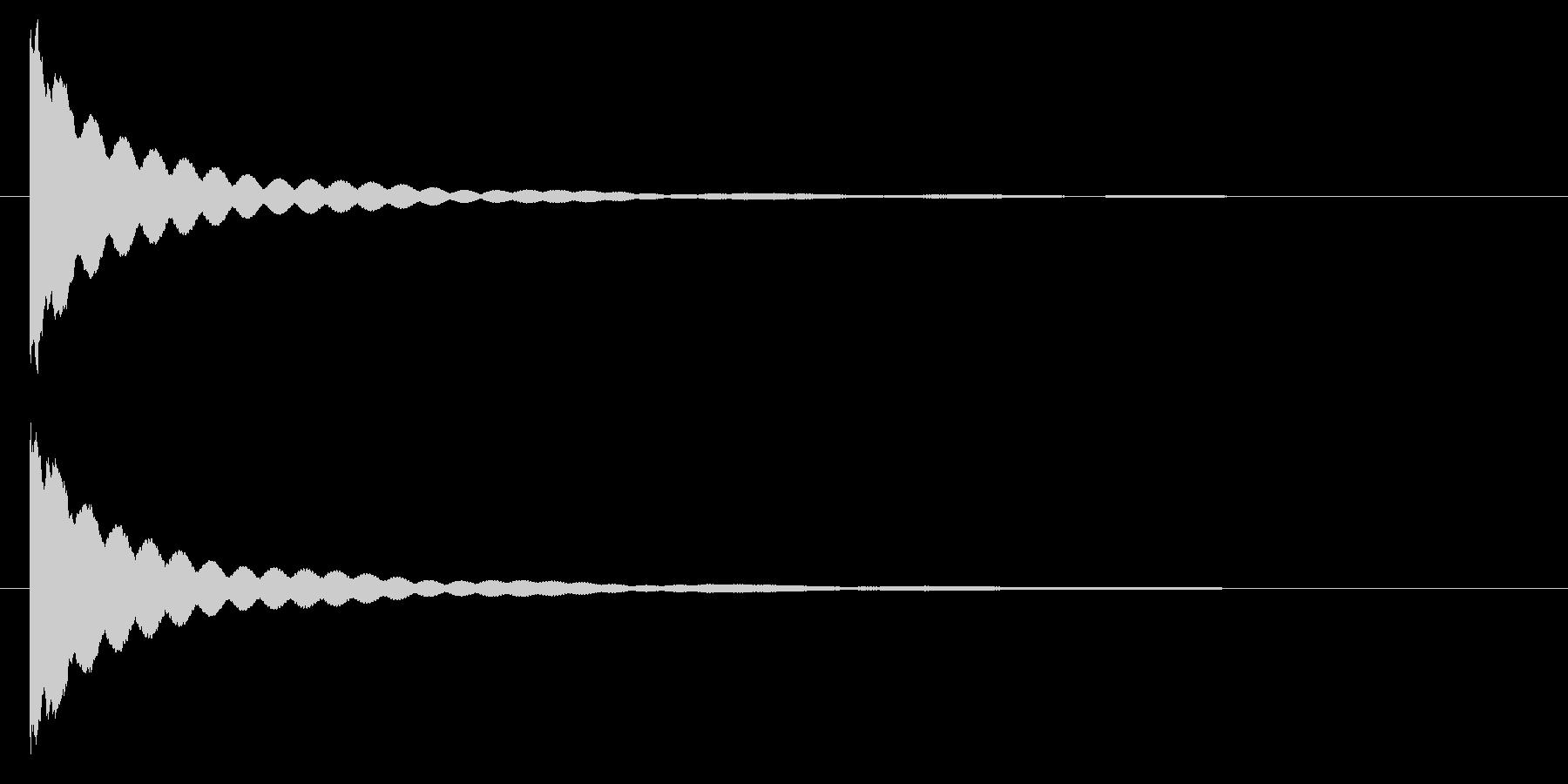 チーン・・・ お鈴・仏壇の鐘の未再生の波形