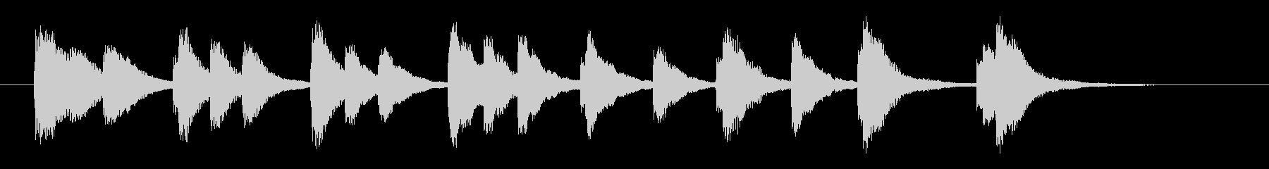 かわいいジングル・場面転換の未再生の波形