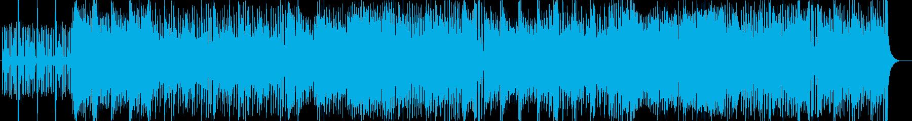 勢いのあるギターなどポップサウンドの再生済みの波形
