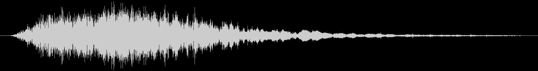 斬撃音(刀や剣で斬る/刺す効果音)07の未再生の波形