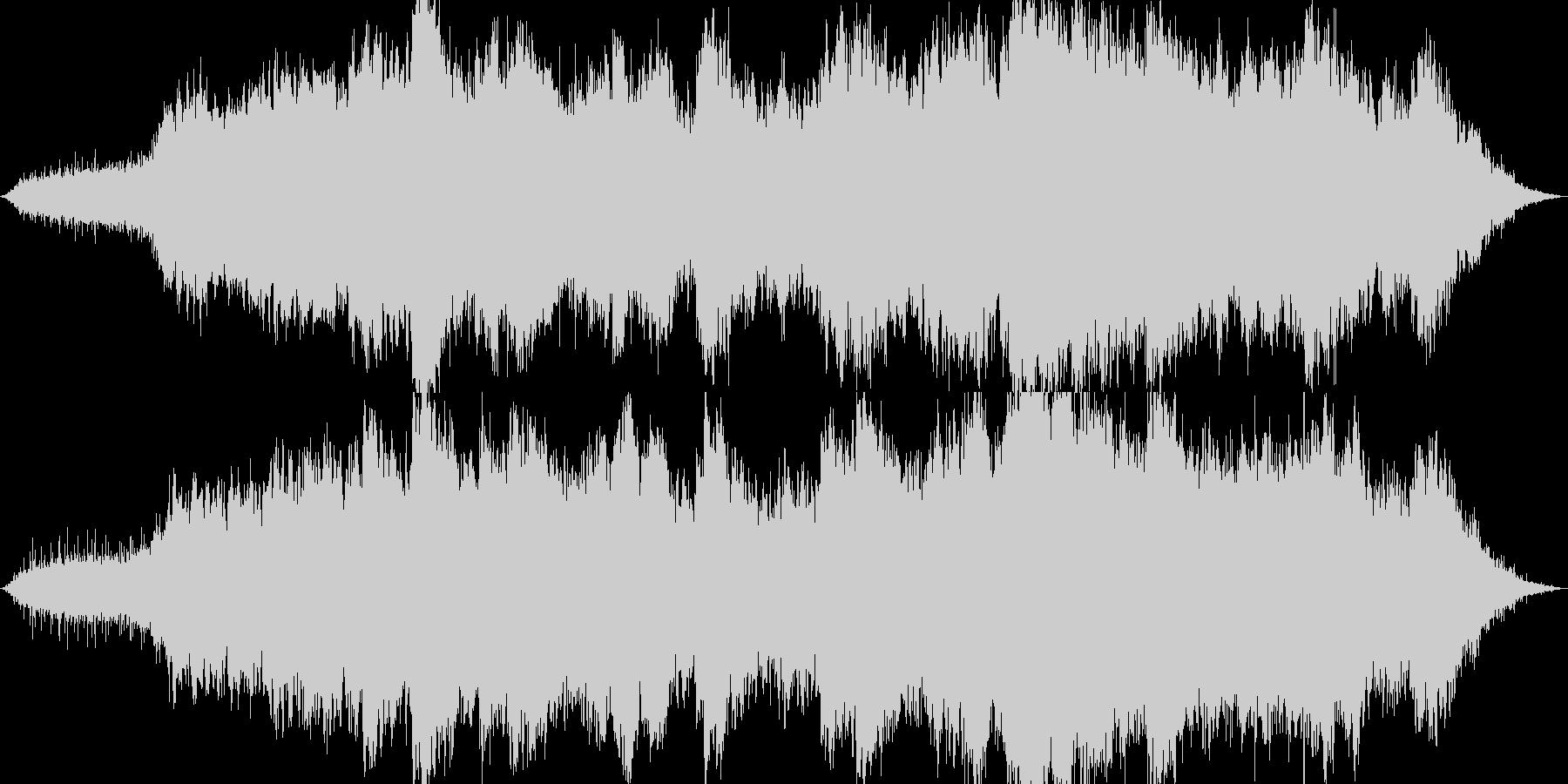 暖かく神秘的なヒーリング曲の未再生の波形